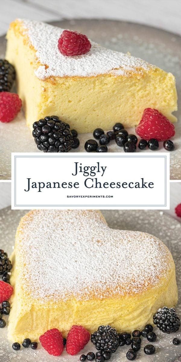 Japanese cheesecake for pinterest