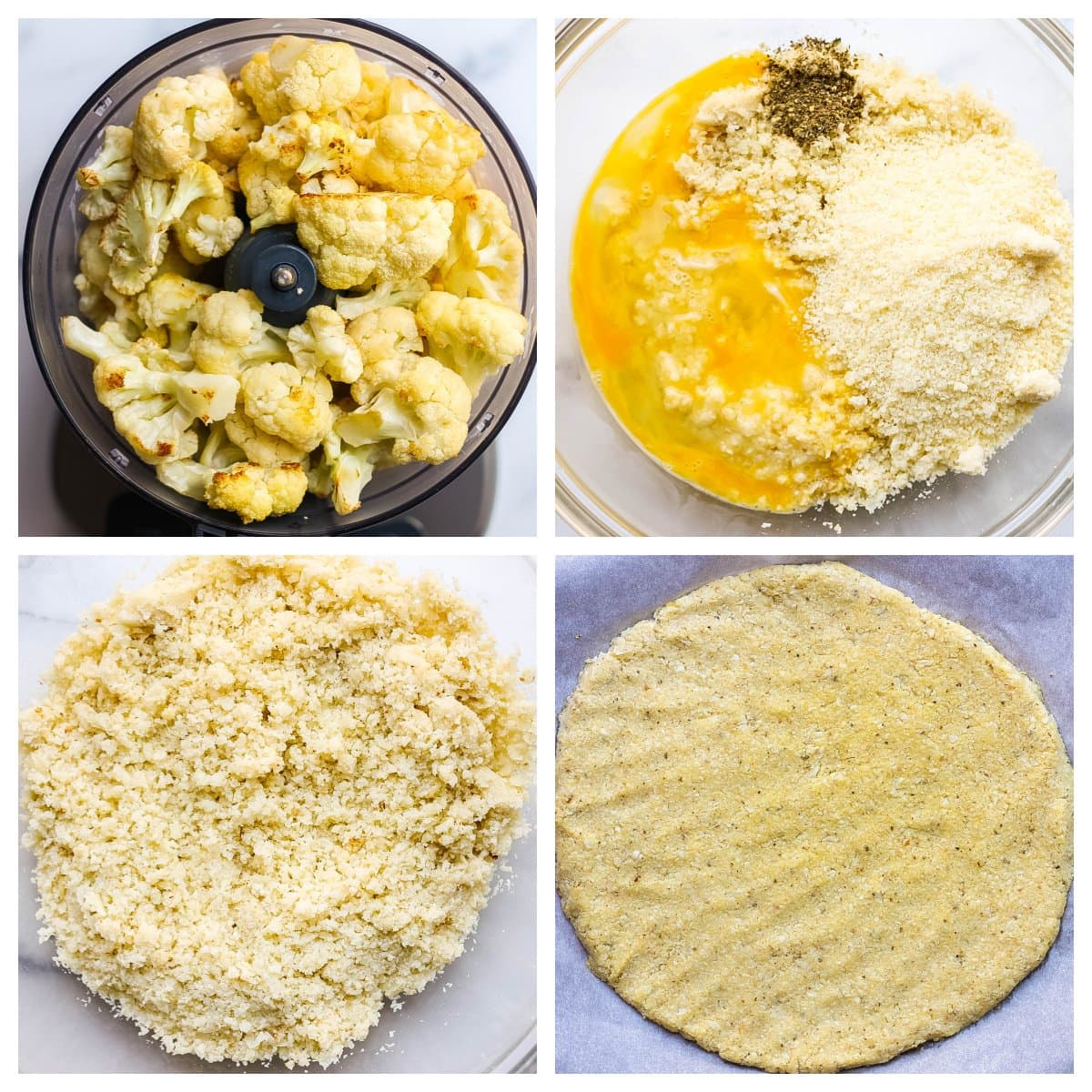 how to make a cauliflower pizza crust