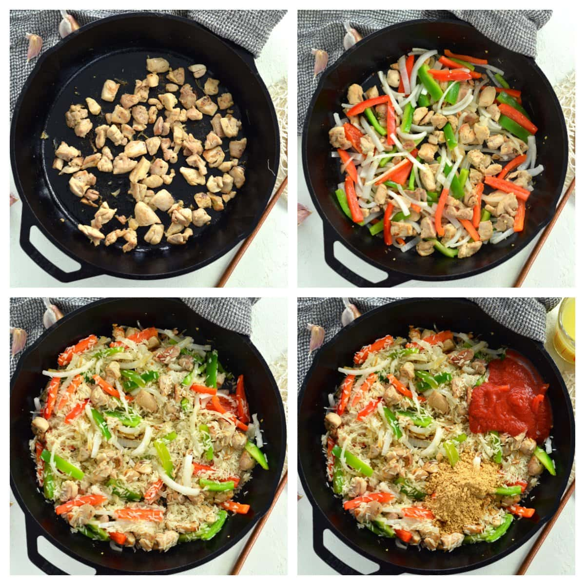 how to make chicken and rice skillet