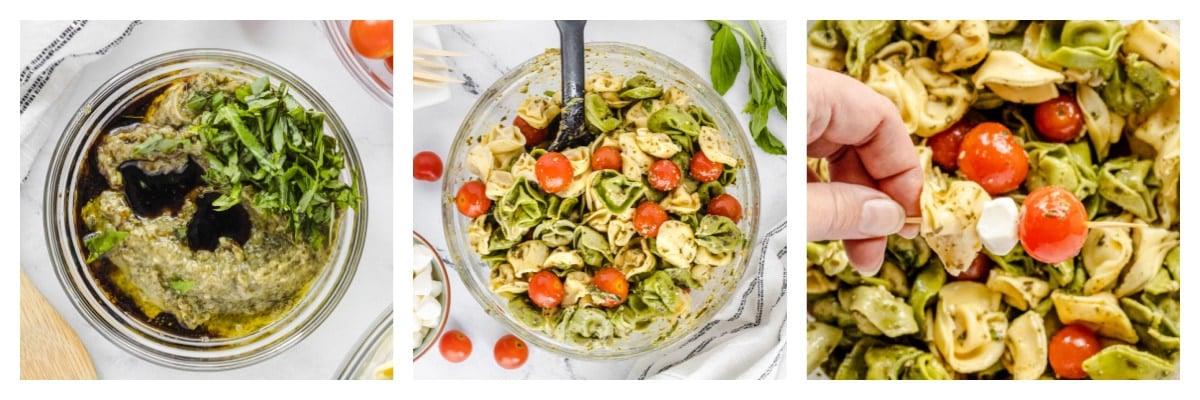 how to make tortellini salad skewers