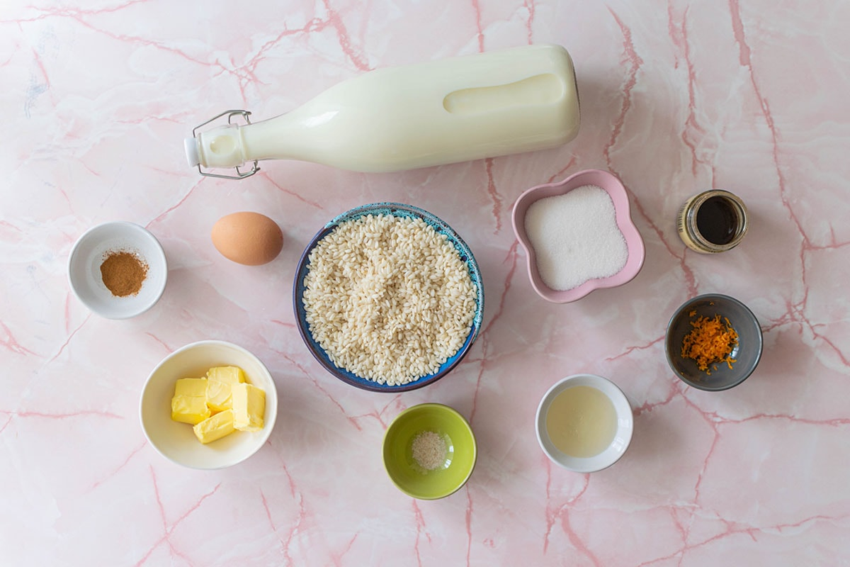 ingredients for rice pudding recipe
