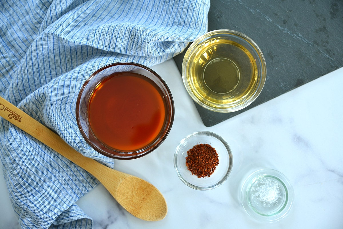 ingredients for homemade hot honey