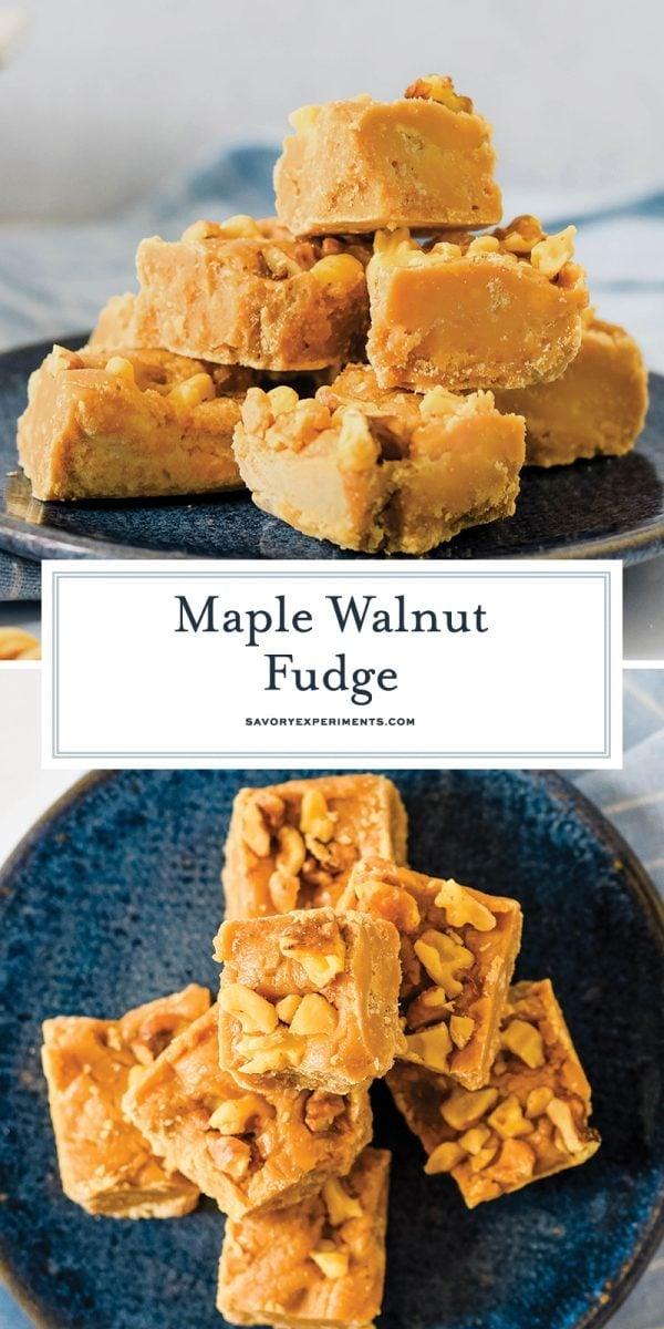 maple walnut fudge for pinterest
