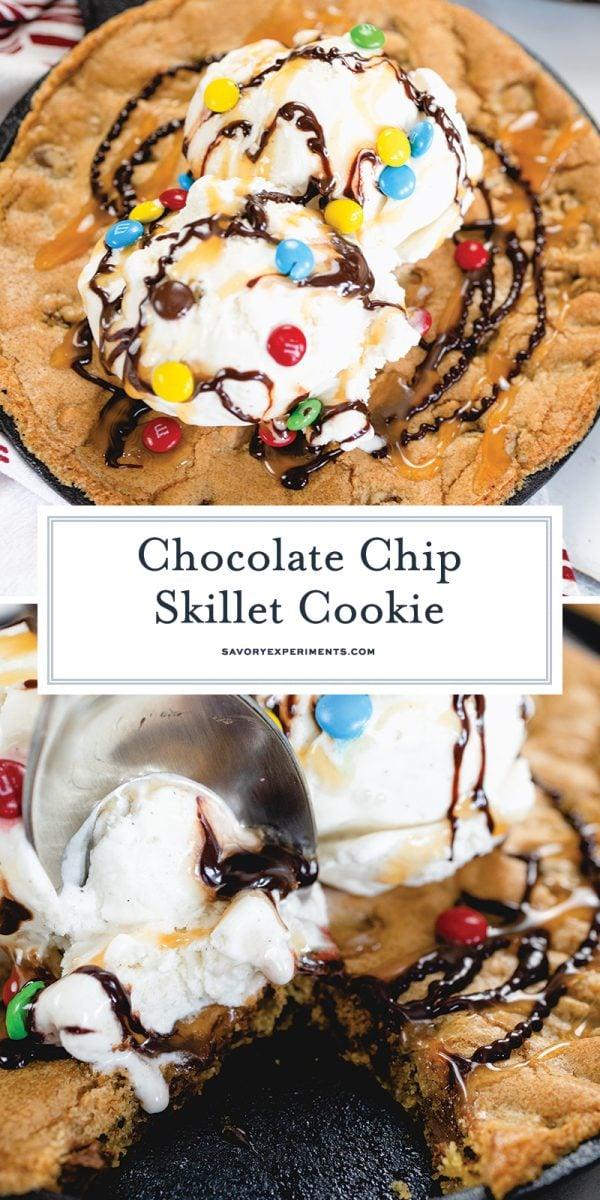 skillet cookie recipe for pinterest