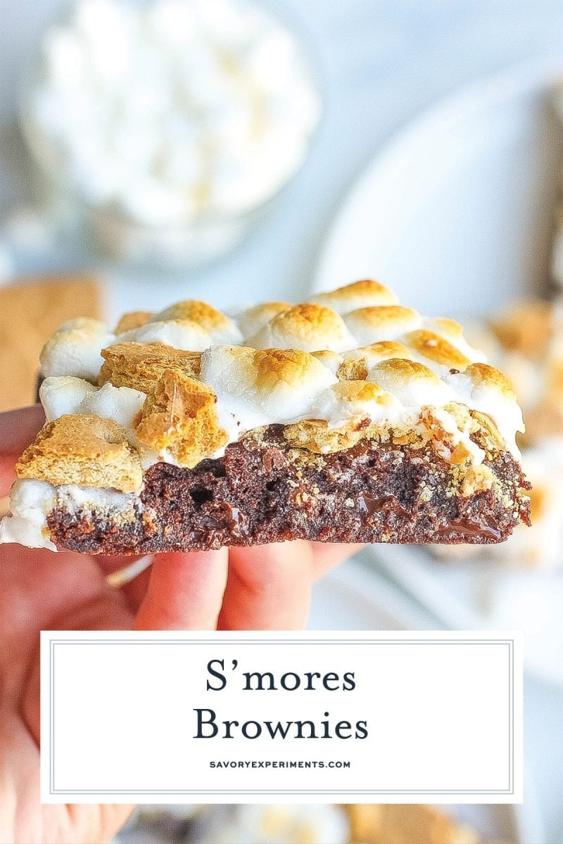 angle view of smores marshmallows