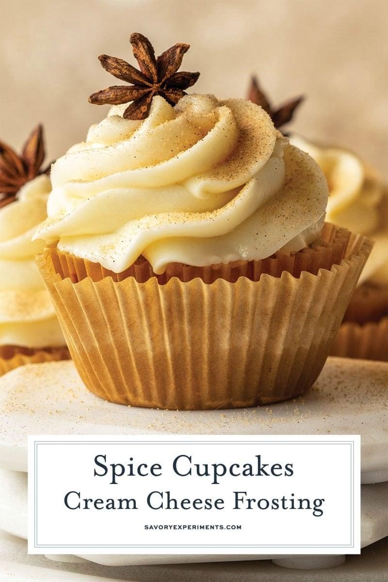 close up of spice cupcake