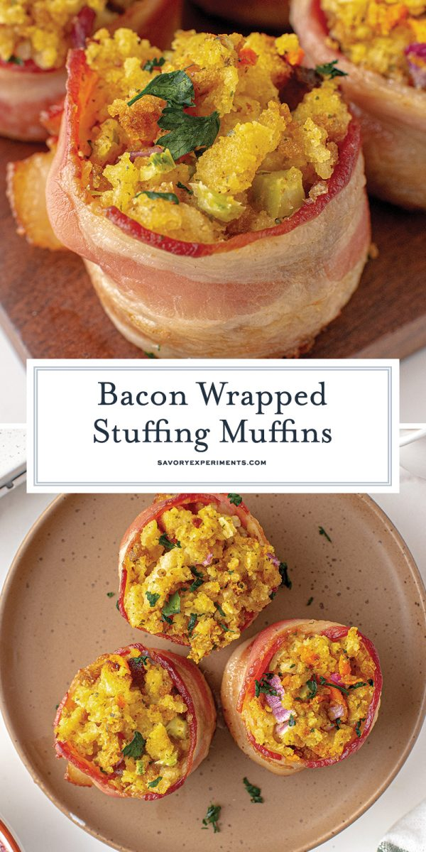 bacon wrapped muffins for pinterest