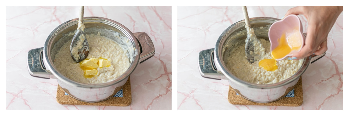 step-by-step images for how to make rice pudding