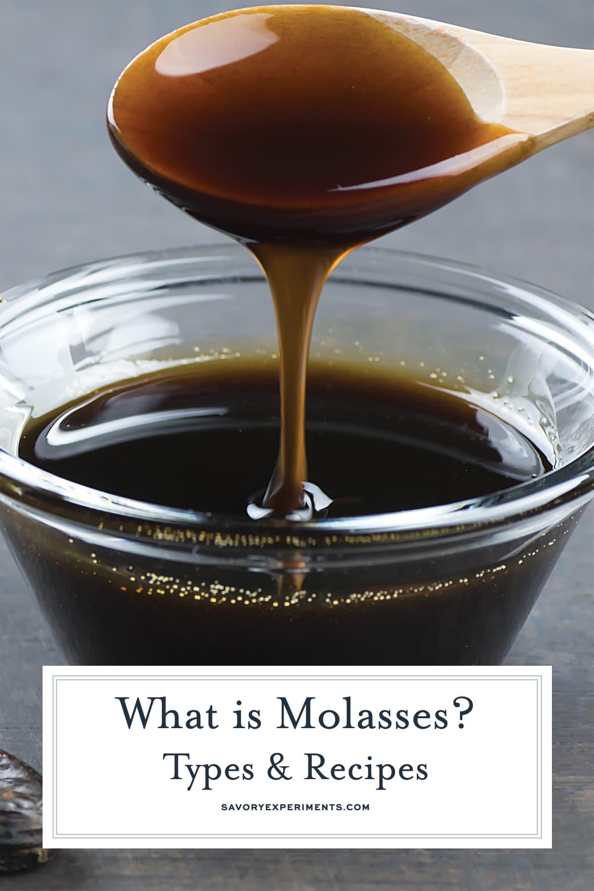 spoon pouring molasses