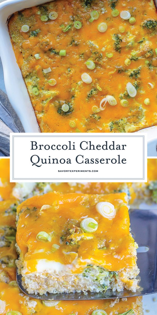 broccoli cheddar quinoa recipe for pinterest