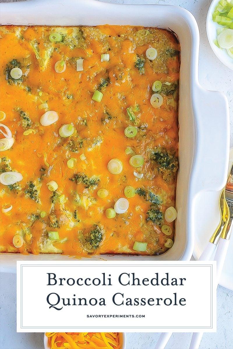 close up of cheesy broccoli casserole