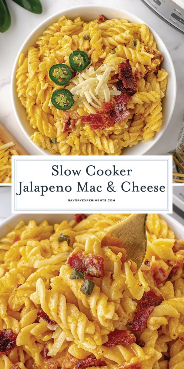 slow cooker jalapeno mac and cheese for pinterest