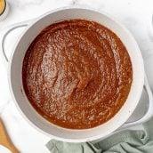 saucepan of homemade pumpkin butter