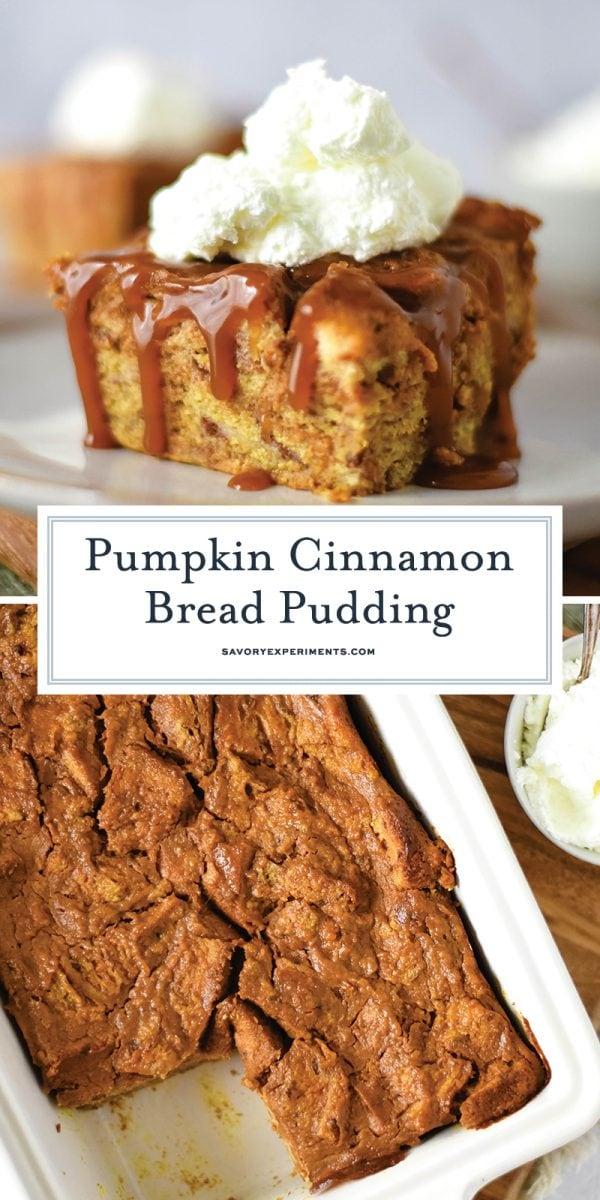 pumpkin cinnamon bread pudding recipe for pinterest