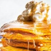 close up of pumpkin pancakes