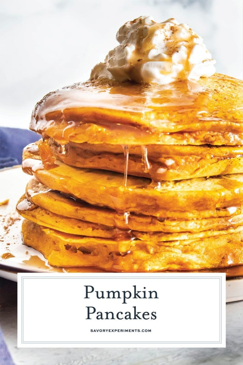 close up of stack of pancakes