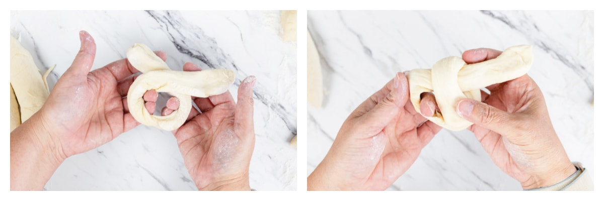 how to fold a garlic knot