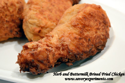 Herb and Buttermilk Brined Fried Chicken - Savory Experiments