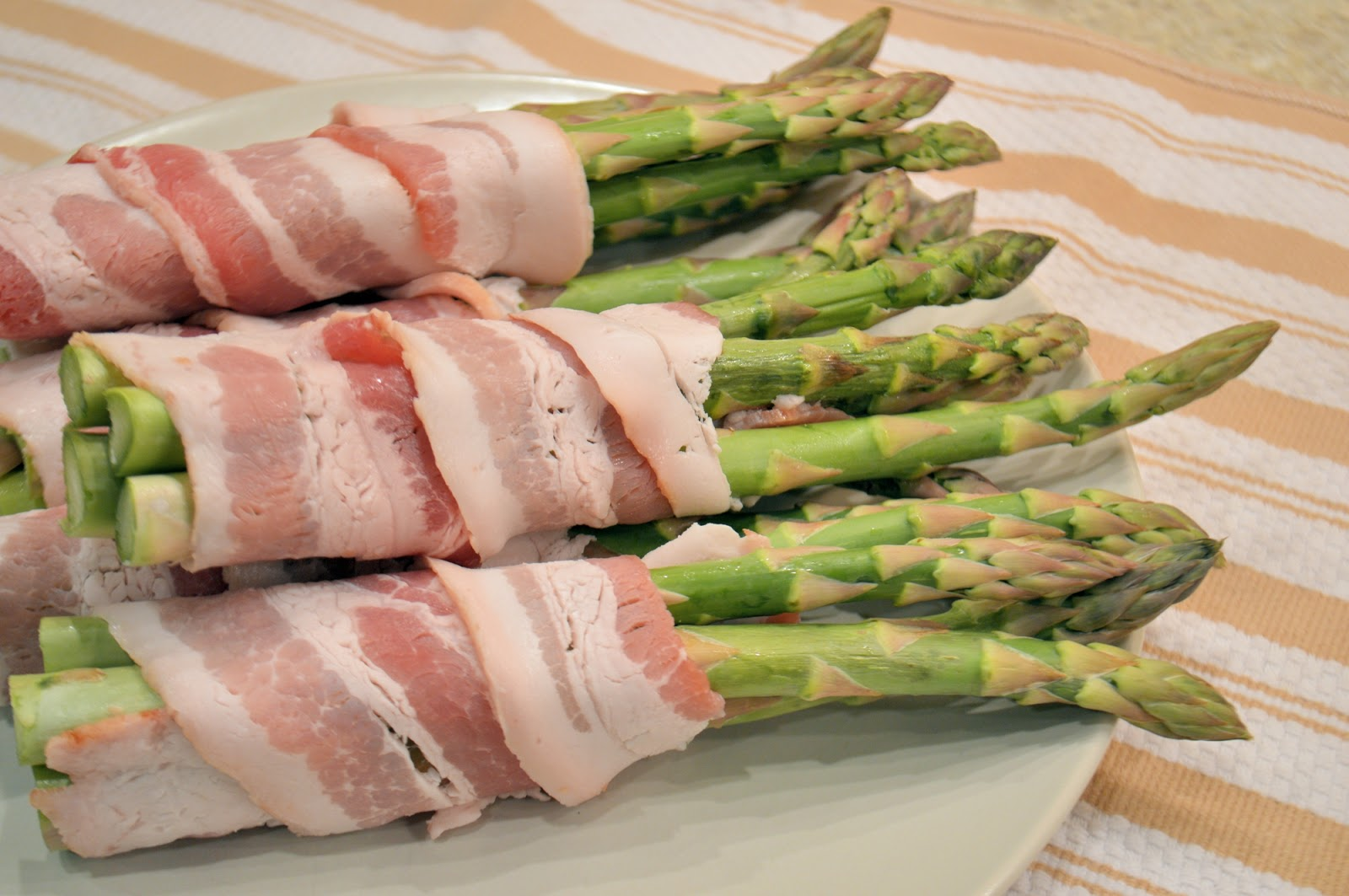 Bacon Wrapped Apricot Asparagus