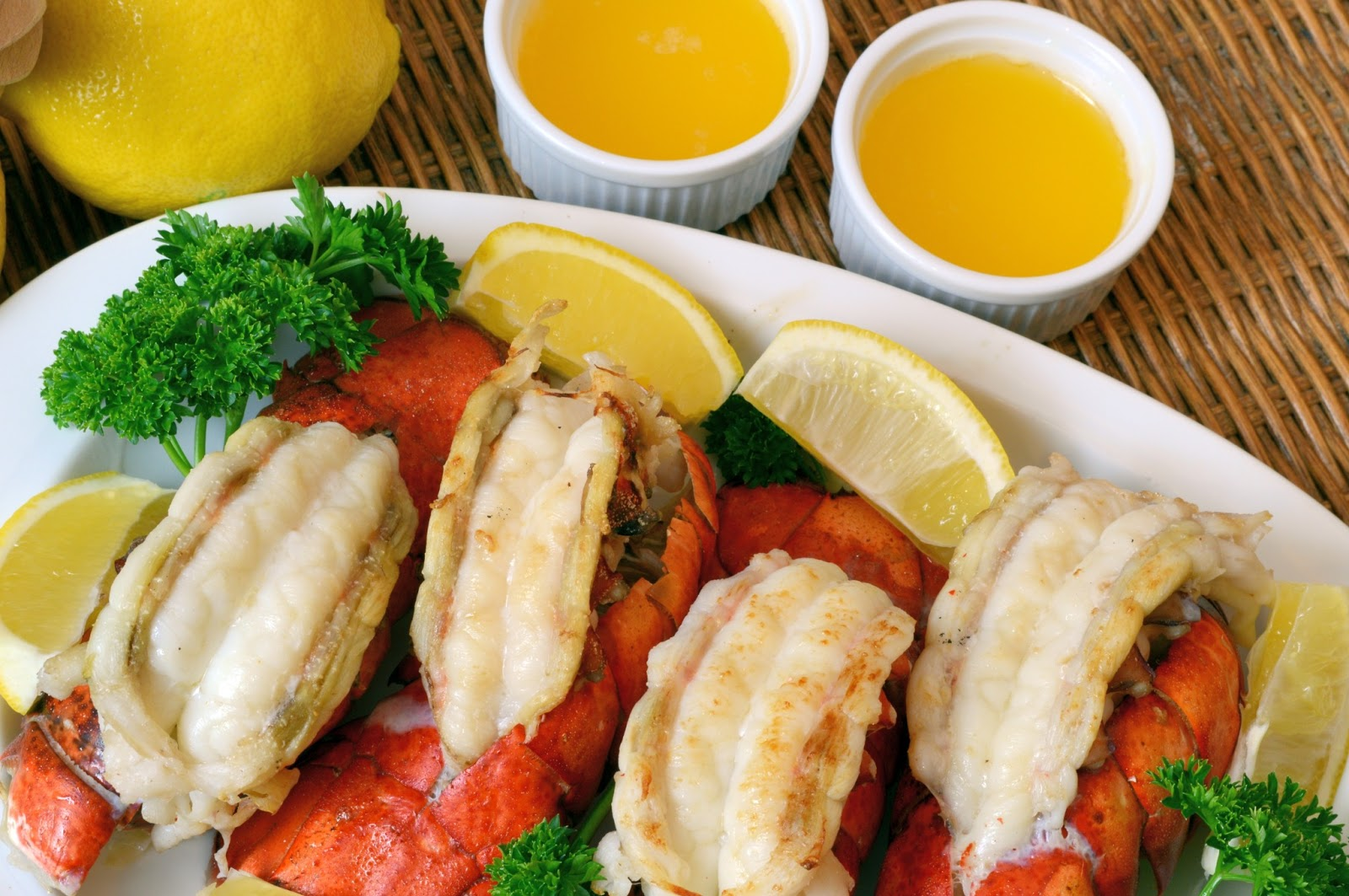 Broiled Lobster Tails with Clarified Lemon Butter ...