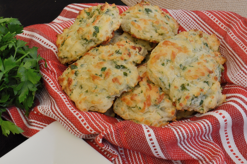 Herb and Cheese Drop Biscuits - Savory Experiments