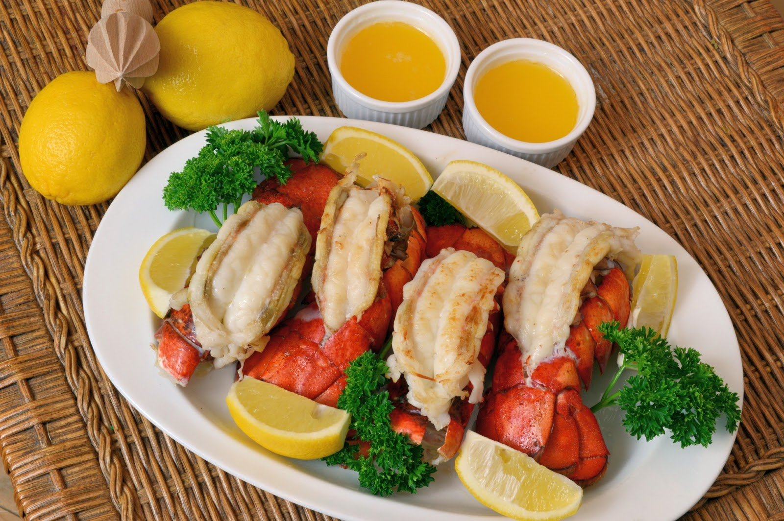 Broiled Lobster Tails with Clarified Lemon Butter - Savory ...
