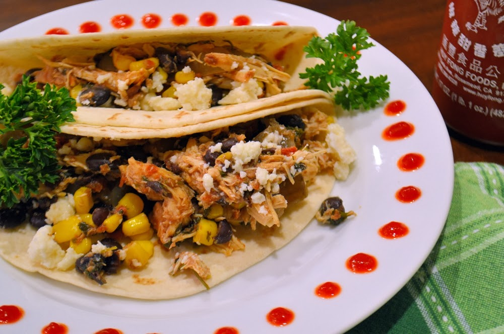 Crock Pot Cilantro Lime Chicken Soft Tacos - Savory Experiments