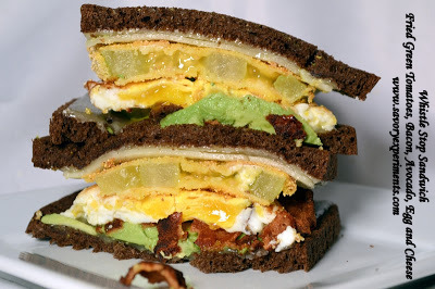 Sandwich (Fried Green Tomato, Bacon, Avocado, Fried Egg and Cheddar ...