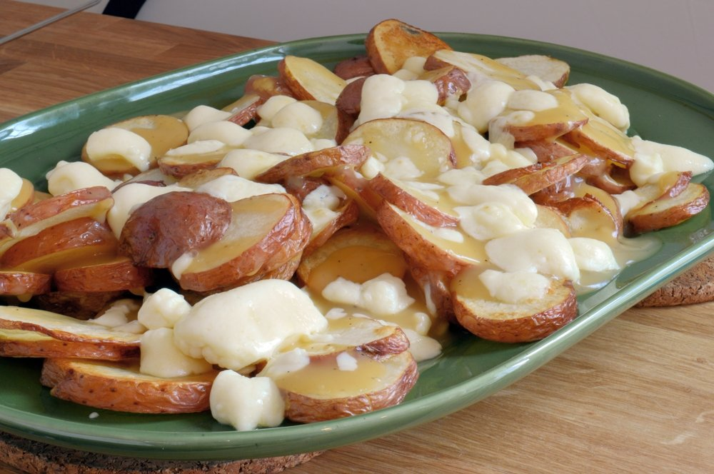 Making Poutine with Homemade Cheese Curds   Canadian Cheese Fries And Gravy
