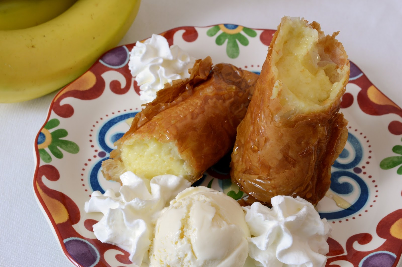 fried banana cheesecake rolls savory experiments