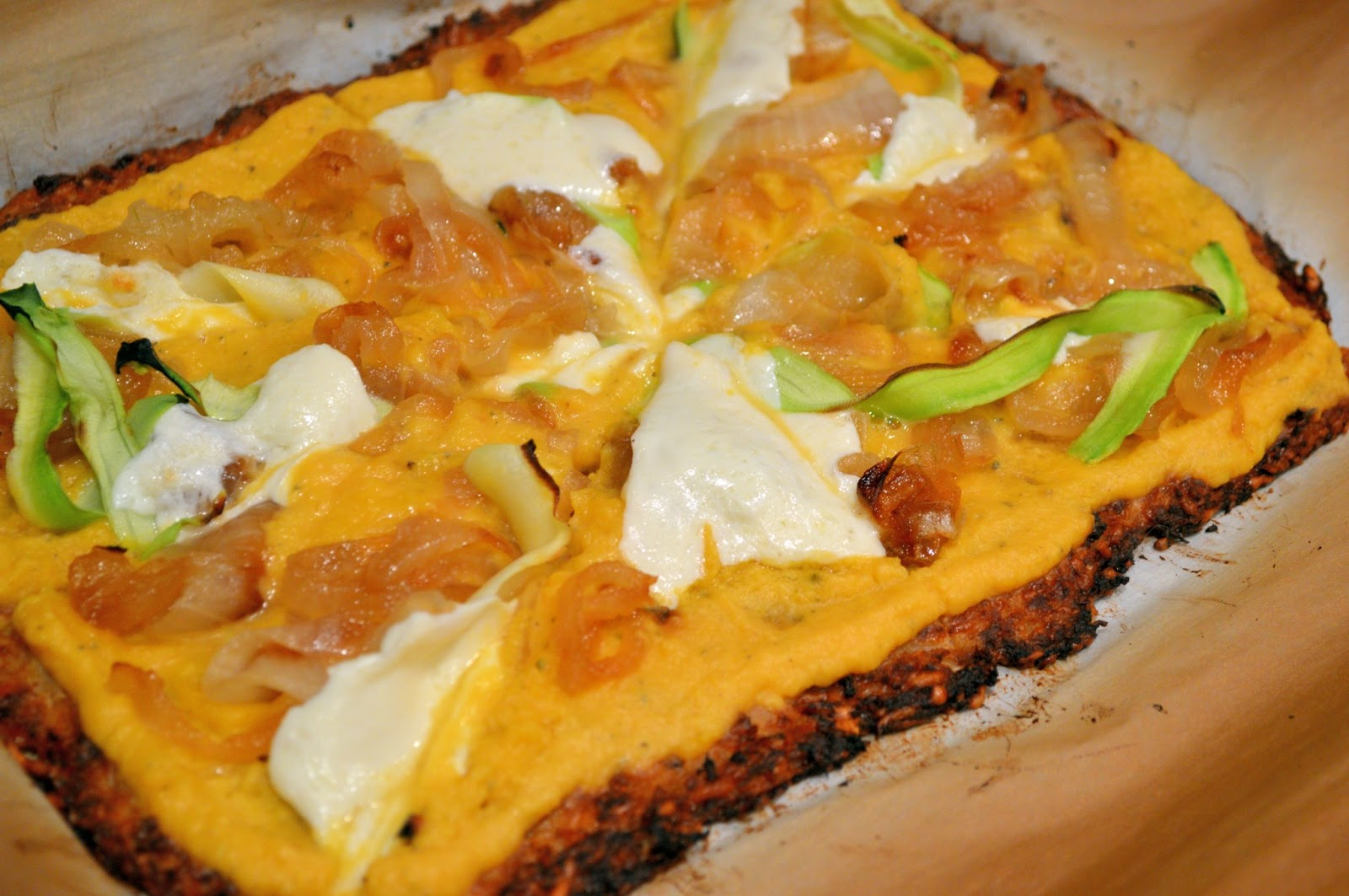 Parmesan Cauliflower Pizza Crust - Savory Experiments